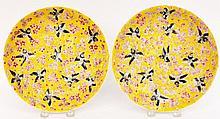 Pair of Chinese Bird & Cherry Blossom Plates
