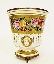 French Porcelain Hand Painted Cache Pot
