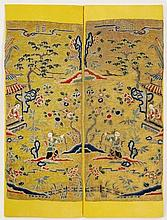 Pair of Chinese Embroidered Sleeve Textiles