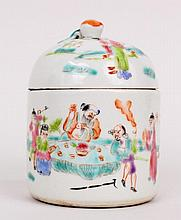 Small Chinese Porcelain Lidded Caddy