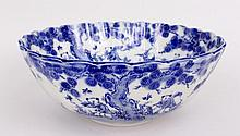 Oriental Blue & White Porcelain Bowl
