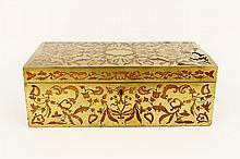 19th C. Mahogany & Brass Writing Lap Desk