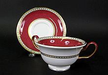 Twelve Wedgwood Bone China Teacups & Saucers