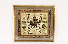 Joseph Edmondson Coat of Arms Heraldic Lithograph