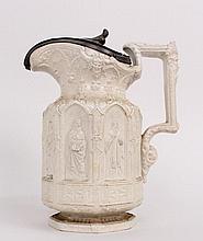 English Salt Glazed Stoneware Pitcher