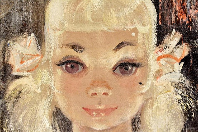 Igor Pantuhoff Signed Original Oil Portrait Painting   EBTH