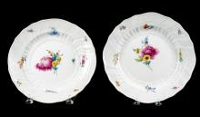 Pair of Meissen Porcelain Soup Plates, Circa 1790