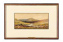 """Arthur Suker, """"Flower Field"""", Watercolor"""