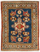 Hand Woven Kazak Throw Rug (2' x 2' 9