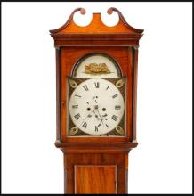 Georgian Mahogany Cased Grandfather Clock, 19 C.