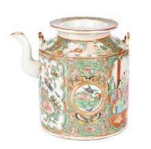 Chinese Export Famille Rose Medallion Teapot