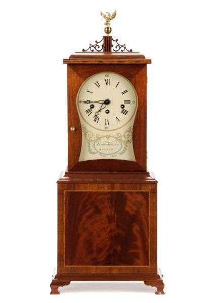 Aaron Willard Replica Mass Mahogany Shelf Clock