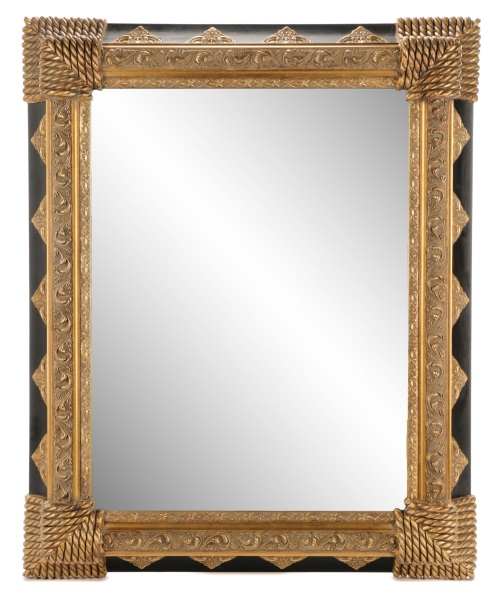 large black gold baroque style mirror