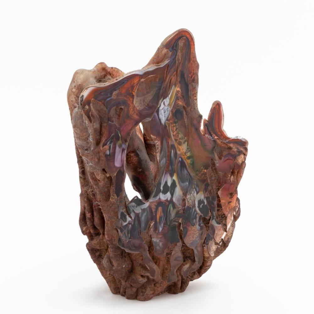 JOHN KUHN, EARLY ART GLASS SCULPTURE, 1981