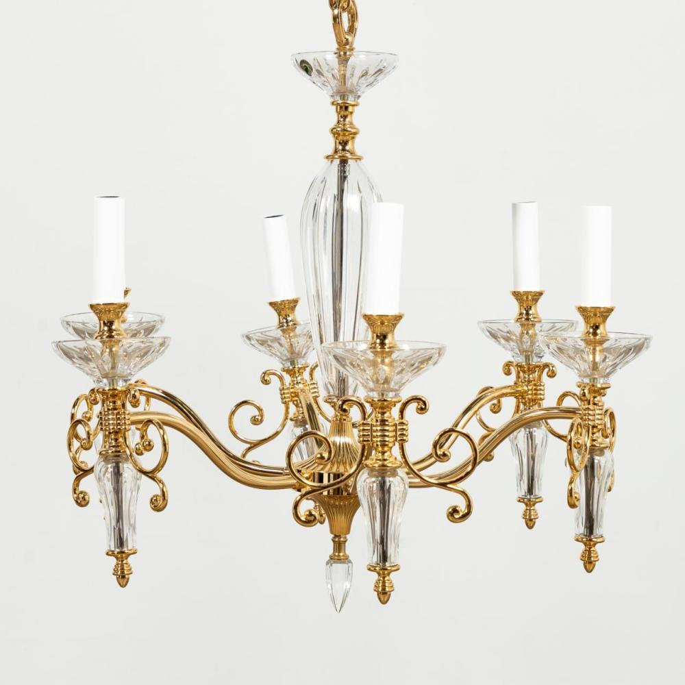 """WATERFORD CRYSTAL """"CARINA"""" SIX-LIGHT CHANDELIER"""