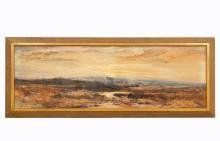 19TH C. WILLIAM WIDGERY, MOORLAND SCENE WATERCOLOR