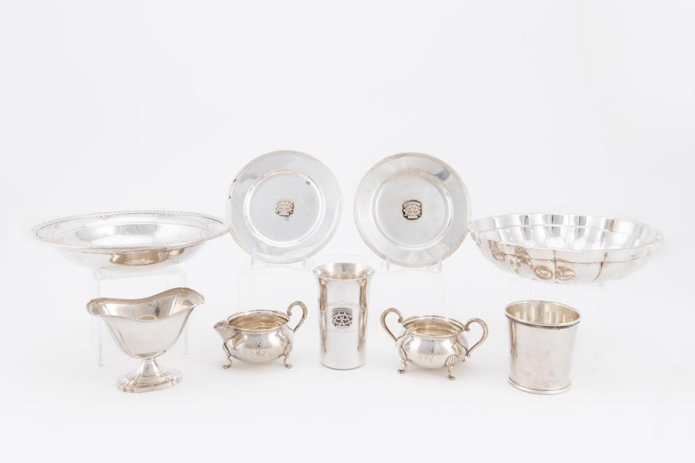 9PC, AMERICAN STERLING SILVER HOLLOWARE ASSORTMENT