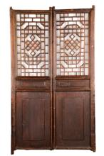 Pair of Chinese Carved Openwork Shutter Doors