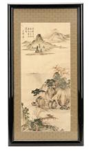 19th Century Chinese Landscape Painting on Silk