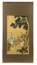 19th Century Chinese Figural Painting on Silk