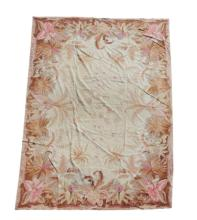 Needlework Floral Tapestry or Floor Treatment
