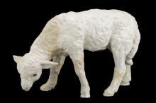 Large Redware Lamb, 19th Century