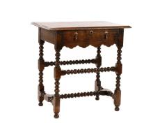 William and Mary Style Stained Oak Dressing Table