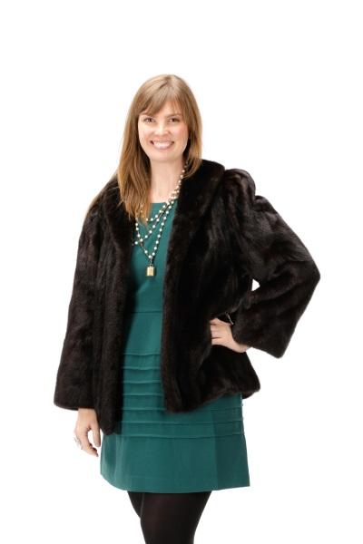 neiman marcus dark brown mink fur coat. Black Bedroom Furniture Sets. Home Design Ideas