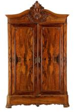 American Rococo Revival Rosewood Wardrobe