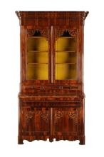 Rococo Revival Style Rosewood China Cabinet