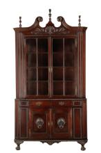 Philadelphia Chippendale Style Corner Cabinet