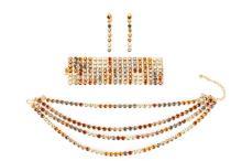 Philippe Ferrandis Necklace, Bracelet, & Earrings