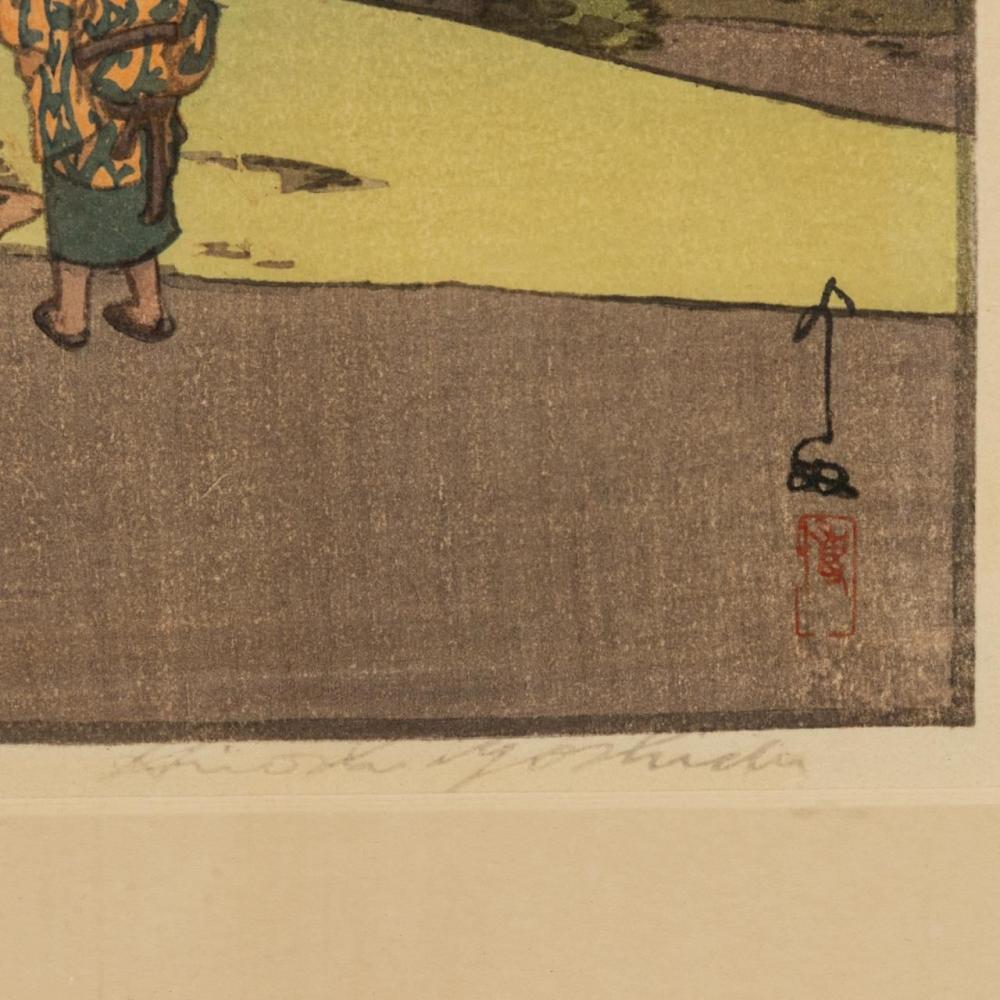 2 HIROSHI YOSHIDA WOODBLOCKS, FRAMED TOGETHER