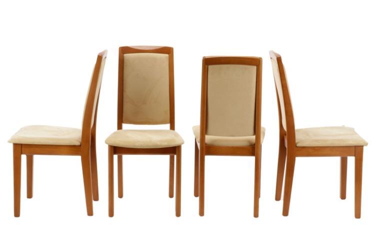 Set Of 8 Skovby Upholstered Teak Dining Chairs