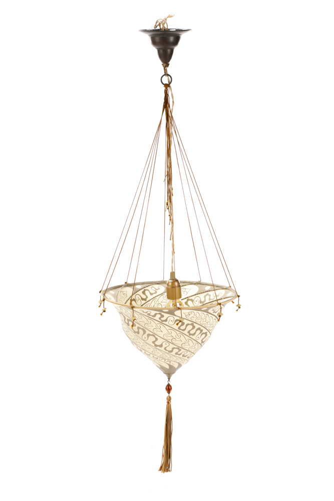 Samarkanda silk suspension hanging lamp fortuny - Fortuny real estate ...
