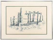 George Cress Pastel on Paper,