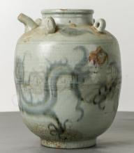 Chinese Celadon Vessel with Dragon Motif