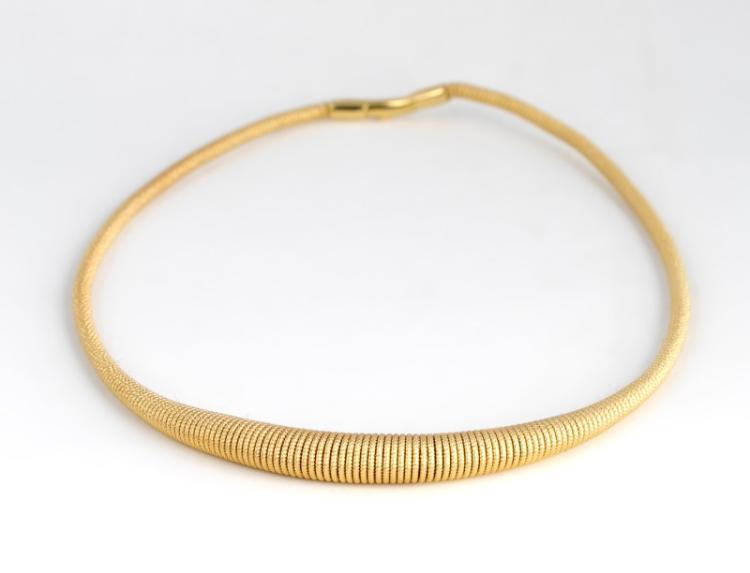 18k Yellow Gold Graduating Wire Necklace