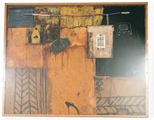 Peter Foley Signed Mixed Media Work,