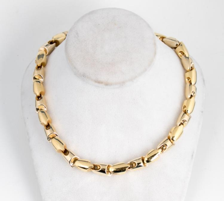 18k Yellow Gold Stylized Chain Necklace
