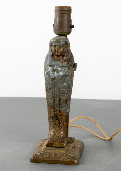 1923 Signed Aronson Erotic Art Deco Mummy Lamp