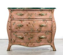 Italian Hand Painted Commode by Patina, Signed