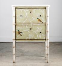Small Hand Painted Two Drawer Chest by Patina