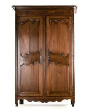 French Provincial Armoire, Early 19th Century