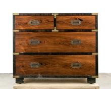 Walnut Campaign Chest by Sloane Furniture Co.