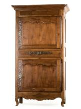 Early 19th C. French Provincial Walnut Bonnetiere