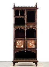 19th C. Aesthetic Movement Cabinet with Bird Motif