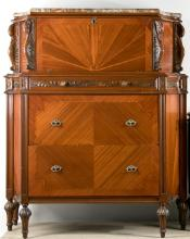Continental Style Carved Mahogany Chest of Drawers