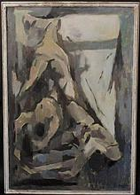 George Ayers Cress, Large Abstract Figural Oil