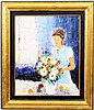 Alain Rousseau Woman in Interior Oil, Signed, Alain Rousseau, Click for value